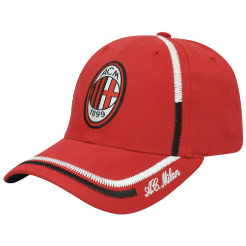 a168a8d111f30 Italy AC Milan ACM 1899 Sun Buckle Curved Bill Shield Soccer Hat Cap Serie A