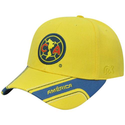 Aguilas America Club Rhinox Mexico Futbol Soccer Velcro Constructed Hat Cap