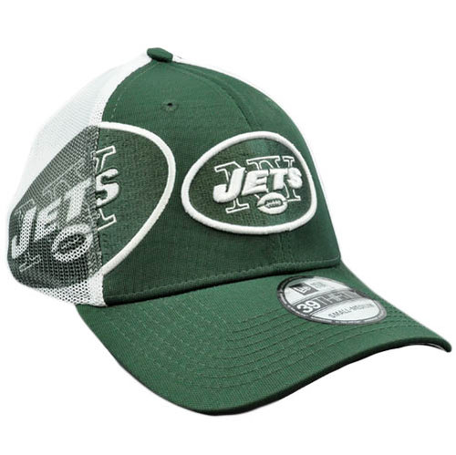 NFL New Era 39Thirty 3930 QB Sneak Mesh Flex Fit Hat Cap Med LG New York Jets