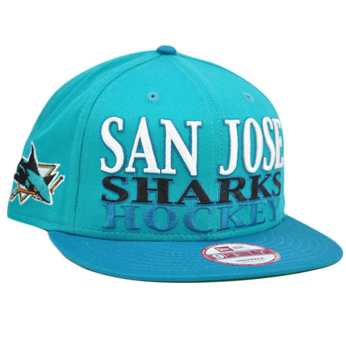 New Era 9Fifty 950 NHL Tonal Sport Snapback Hat Cap Flat Bill San Jose Sharks