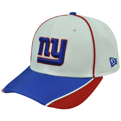 official photos acb40 befc7 NFL New Era 3930 39Thirty Abrasion Flex Fit White Hat Cap New York Giants  S M