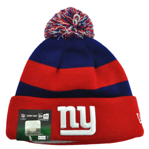 NFL New Era New York Giants 2013 Fashion Sport Knit Beanie Pom Pom Cuffed Hat