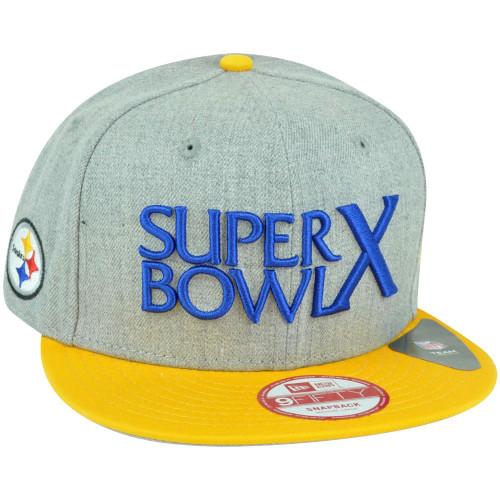 ba4417a9f84116 NFL New Era 9Fifty Pittsburgh Steelers Super Bowl Patch X Snapback Hat Cap  M/L