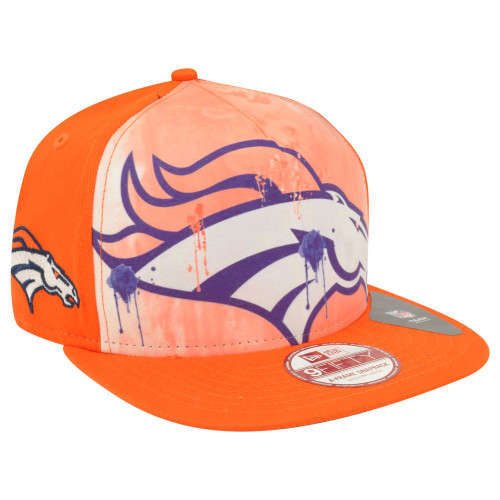 NFL New Era 9Fifty 950 A Frame Over Watercolor Denver Broncos Snapback Hat Cap