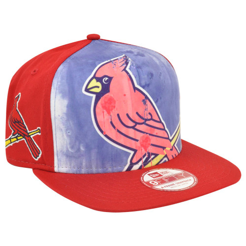 MLB New Era 9Fifty A Frame Over Watercolor St Louis Cardinals Snapback Hat Cap