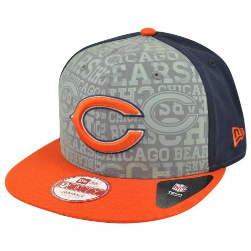 NFL New Era 9Fifty 950 2014 Reflective Chicago Bears Flat Bill Snapback Hat Cap