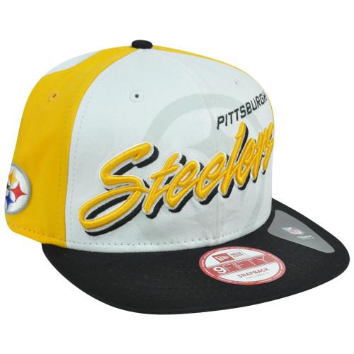 47955e3d635741 New Era 9Fifty 950 NFL Pittsburgh Steelers Gamer Two Tone Snapback Hat Cap  S/M