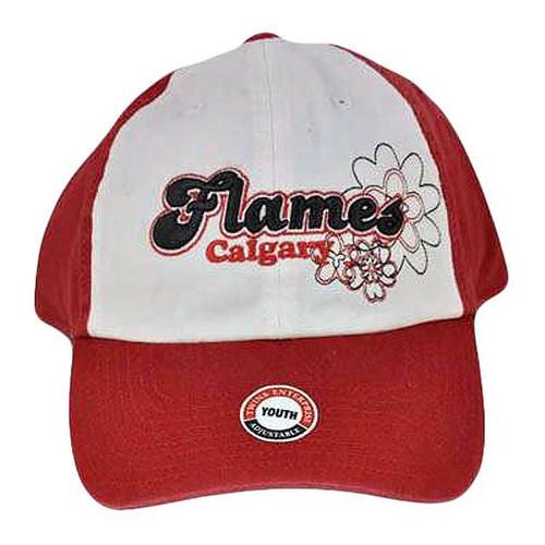 HOCKEY CALGARY FLAMES YOUTH KIDS HAT CAP RED WHITE NEW