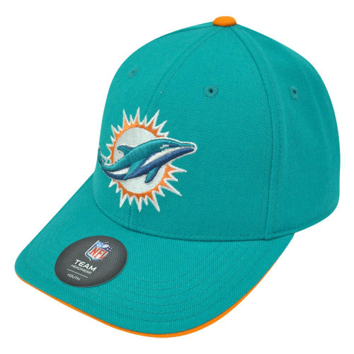 NFL Miami Dolphins Curved Bill Youth Velcro Boys Teens K18GFV Hat Cap The Fins