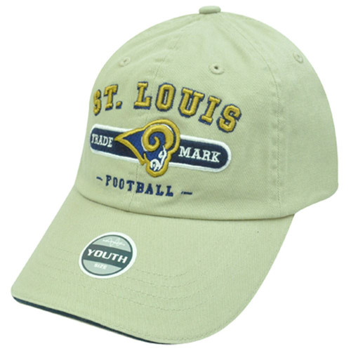 NFL SAINT LOUIS RAMS KHAKI COTTON YOUTH KIDS CAP HAT