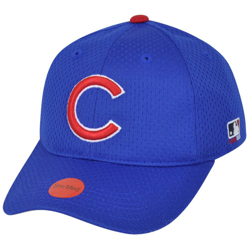 MLB Chicago Cubs MLB375 Mesh Stretch Fit Youth Blue Cubbies Teen Boys Hat Cap
