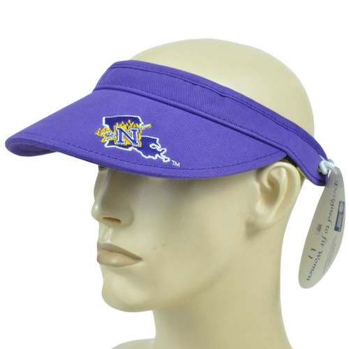 5056f2b3739b7 NCAA Northwestern State Demons Coil Visor Hat Adjustable Curved Bill  Licensed