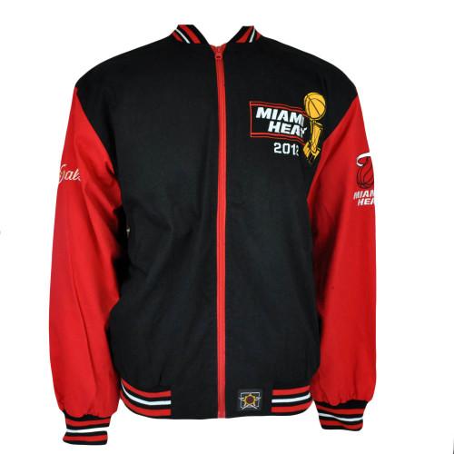 NBA Miami Heat Champions 2012 JH Design Two Tone Lightweight Men Adult Jacket