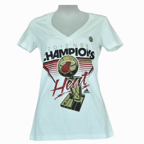 2012 NBA Champions Miami Heat Locker Room Womens Shirt Ladies Adidas Tshirt Tee