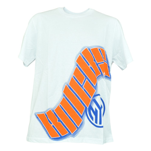 NBA UNK New York Knicks Wave Logo Basketball Shirt White Authentic Tshirt Tee
