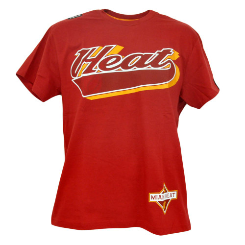 Unk NBA Miami Heat Shadow Script Mens Adult Basketball Shirt Tshirt Tee