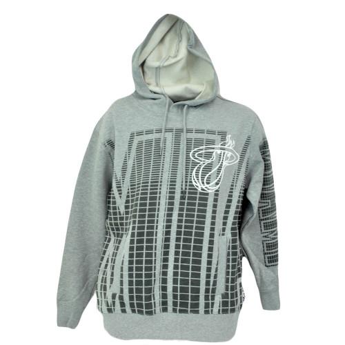 NBA Unk Miami Heat Equalizer Hoodie Hooded Sweater Fleece Grey Mens Adult