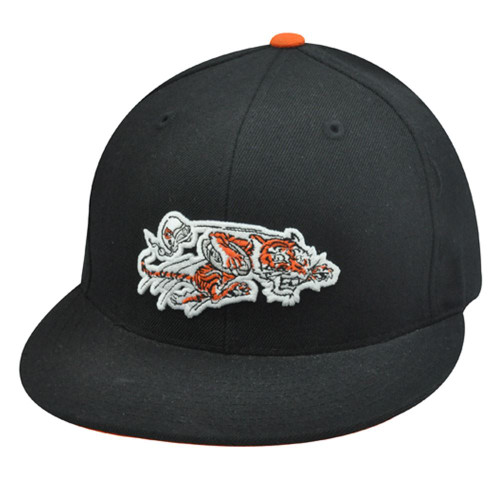 MITCHELL & NESS NFL HAT CAP THROWBACK CINCINNATI BENGALS FLAT BILL FITTED 7 BLK