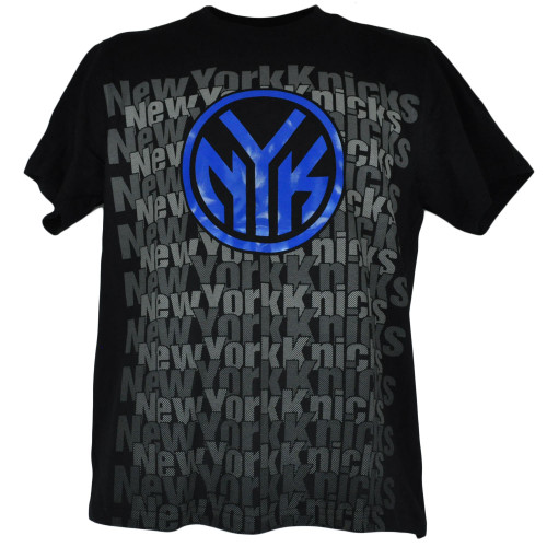 NBA Licensed UNK New York Knicks Patterned Tshirt Tee Black Basketball Shirt