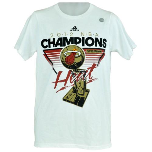 NBA Youth Kids Adidas Miami Heat 2012 National Champions Locker Room Shirt
