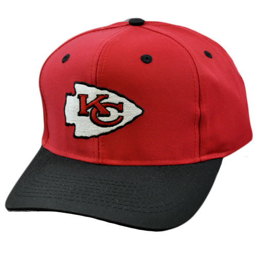 NFL Kansas City Chiefs Vintage Deadstock Red Blk Snapback Logo Athletic Hat Cap