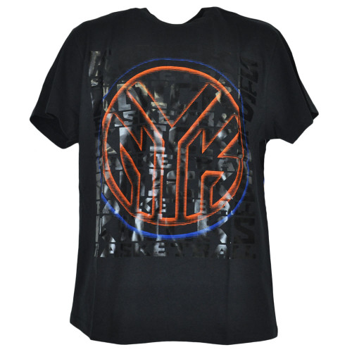 NBA New York Knicks Shine Basketball Shirt Black Adult Authentic Tshirt Tee