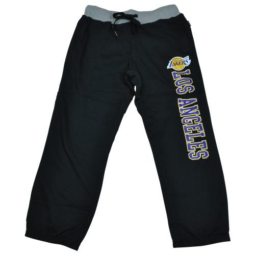 Unk Los Angeles Lakers NBA Women Ladies Capri Sweat Basketball Black Crop Pants