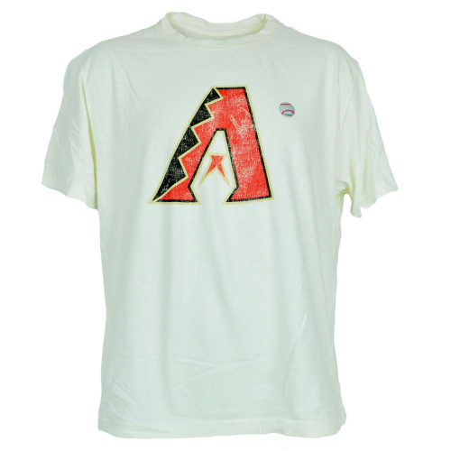 MLB Faded Distressed Arizona Diamondbacks Dbacks Beige Tee Authentic Tshirt