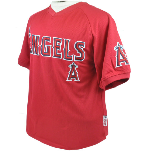 MLB LA Los Angeles Angels Lightweight Baseball Jersey Stitches License