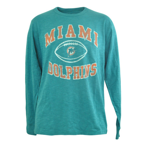 NFL Miami Dolphins '47 Brand LS Backyard Vintage Scrum Long Sleeve Shirt