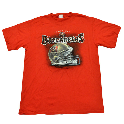 NFL Football Helmet Licensed Tampa Bay Buccaneers Shirt Mens Adult Tshirt Tee