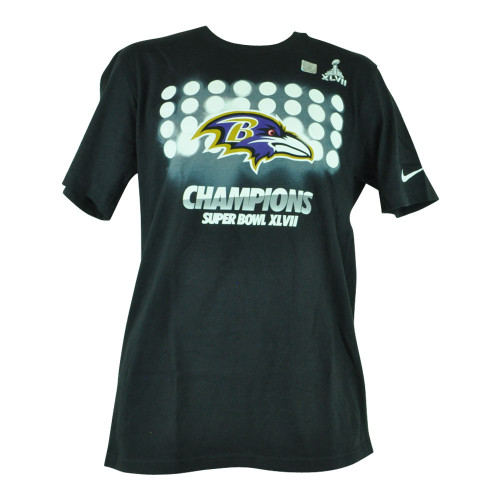 NFL Nike Baltimore Ravens Super Bowl XLVII Our Team Above All Mens Tshirt