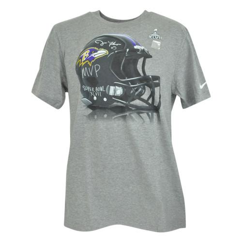 NFL Nike Baltimore Ravens Super Bowl XLVII MVP Joe Flacco #5 Tshirt Tee