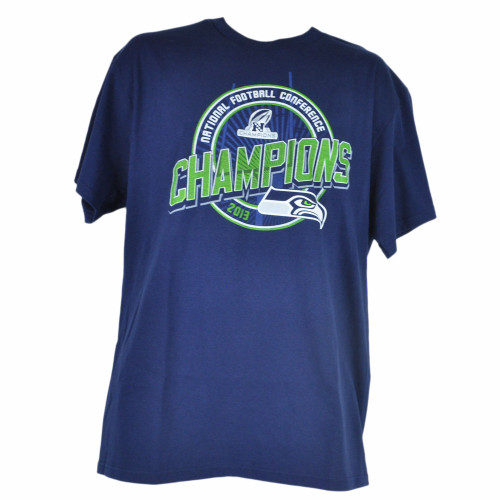 NFL Seattle Seahawks NFC 2013 Champions Navy Blue Tshirt Tee Men Champs