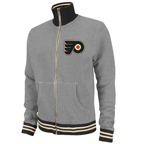 NHL Mitchell & Ness 6024 Vintage French Terry Track Jacket Philadelphia Flyers
