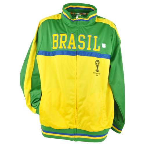FIFA World Cup 2014 Brasil Brazil Track Jacket Zip Up Sweater Soccer Futbol