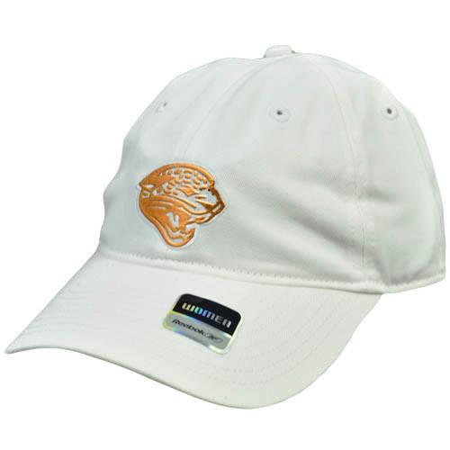 NFL Jacksonville Jaguars Womens Ladies Relaxed Reebok White Metallic Bronze Hat