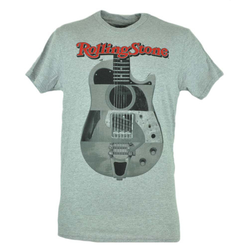 Rolling Stones Grey Electric Guitar Music Rock Band Classic Tshirt Tee