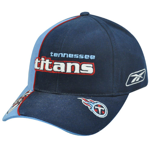 NFL Tennessee Titans Blue Red Velcro Cotton Hat Cap Constructed Licensed Reebok
