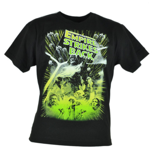 Star Wars Sequel The Empire Strikes Back Black Graphic Tshirt Movie Tee