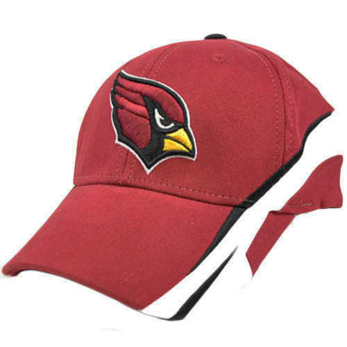 NFL Arizona Cards Cardinals Dark Red White Flex Fit Small Medium License Hat Cap