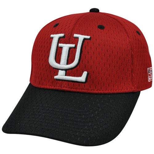 NCAA  Lafayette Leopards Mesh Curved Bill Constructed Red Hat Cap Fitted