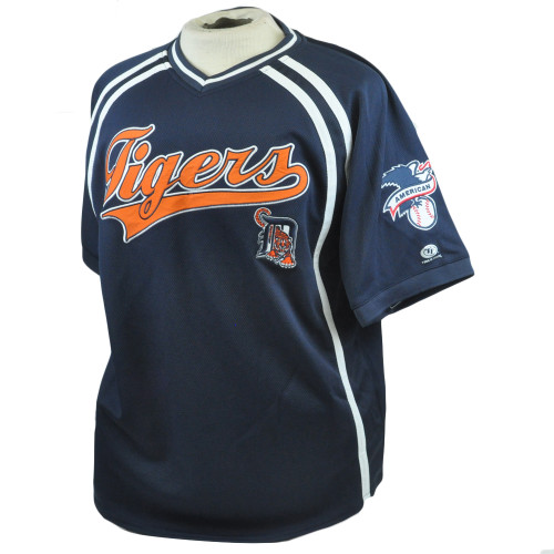 MLB American League Detroit Tigers True Fan Authentic Mesh Jersey Shirt Large LG