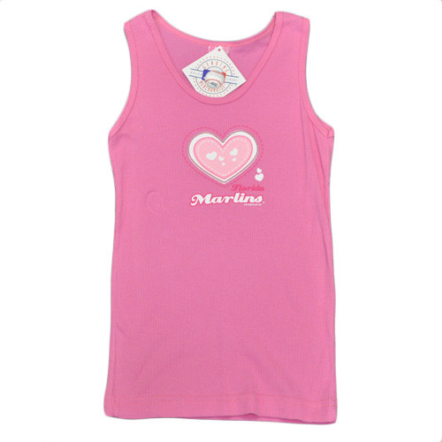 hot sale online 5efe7 c19bb MLB Florida Miami Marlins Youth Kids Girls Baseball Heart Tank Top Pink  Cotton