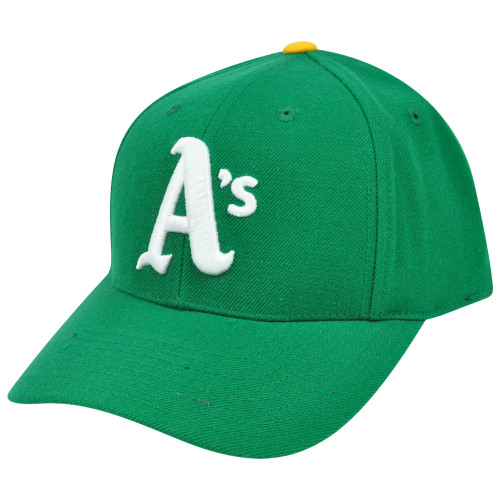 MLB Oakland Athletics Curved Bill Semi Constructed Fitted Hat Cap Size