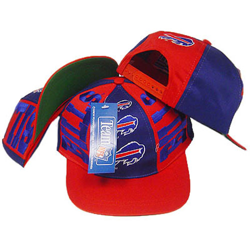 5418735d7 NFL BUFFALO BILLS FLAT BILL SNAPBACK OLD SCHOOL HAT CAP