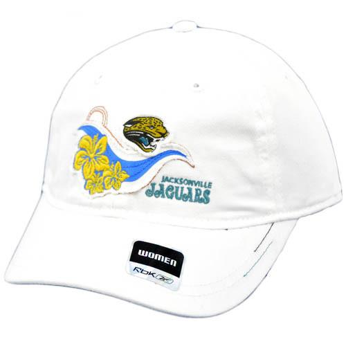 NFL Jacksonville Jaguars White Blue Yellow Hawaiian Flowers Women Ladies Reebok