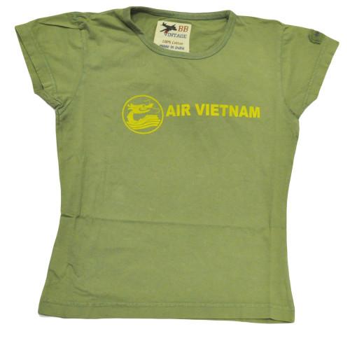 BB London Vintage Air Vietnam Shirt Distressed Tee Women Ladies Tshirt XSmall XS