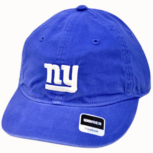 NFL New York Giants Blue Women Wash Relaxed Reebok Hat Cap One Size Fits All
