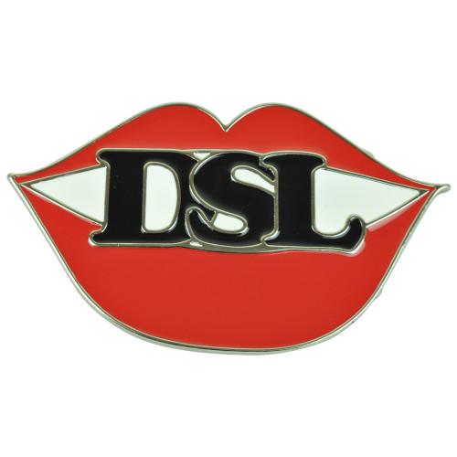 D*** Sucking Lips DSL Metal Enameled Belt Buckle Funny Cool Sexual Joke Sex Red